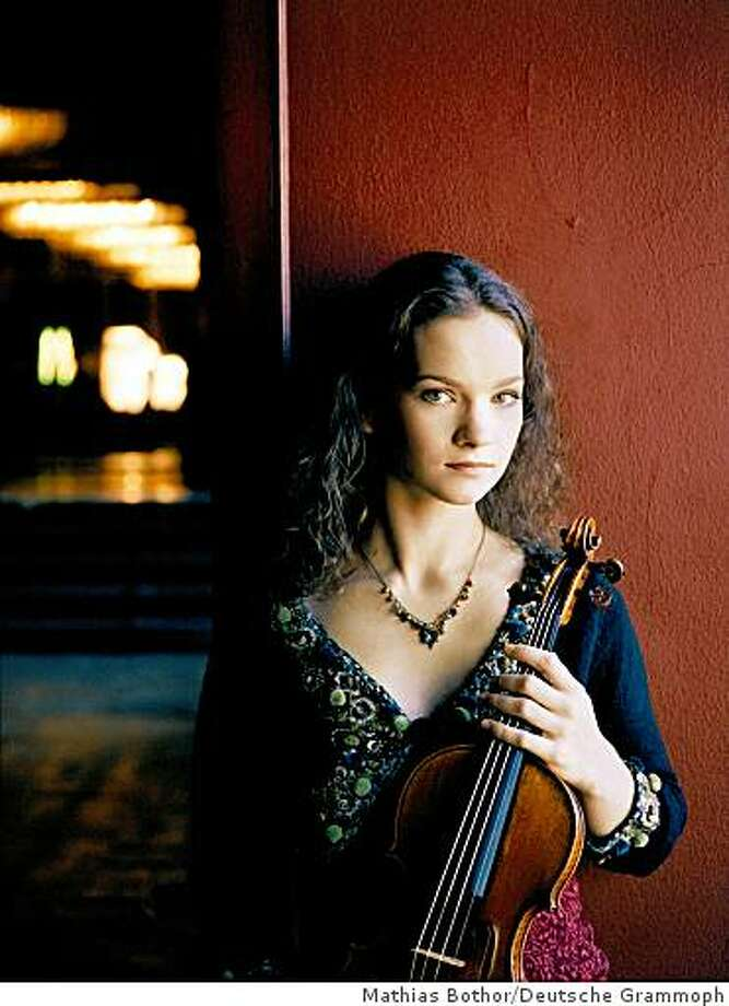 Violinist Hilary Hahn will perform with the San Francisco Symphony on Wednesday, November 26, Friday, November 28 and Saturday, November 29 at  Davies Symphony Hall in San Francisco. Photo: Mathias Bothor/Deutsche Grammoph