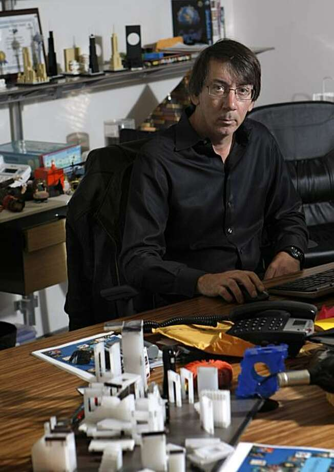 "Will Wright, creator of video game series, ""The Sims,"" and the creative force behind the new Current TV show ""Bar Karma,"" poses for a portrait inside his office at his company called Stupid Fun Club in Berkeley, Calif., on Friday, February 18, 2011. Photo: Thomas Levinson, The Chronicle"