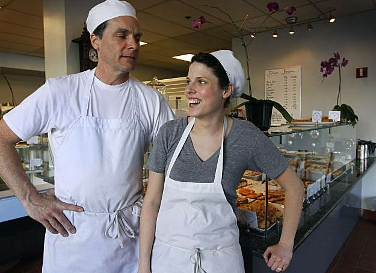 Doug Besagio and his daughter Elena Besagio-Carpenter stand in their Fillmore Bakeshop in San Francisco, Calif., on Tuesday, Jan. 25, 2011.