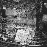 The Geary Theater in San Francisco suffered major interior damage after the October 17, 1989 Loma Prieta earthquake.