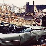 The Marina District after the 1989 Loma Prieta earthquake, as seen in this reader-submitted photo.