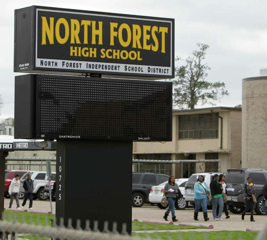 North Forest High School, where the Class of 2011's dropout rate was slightly more than 30 percent, has been deemed 'academically unacceptable' by TEA for six consecutive years. Photo: Melissa Phillip / © 2011 Houston Chronicle