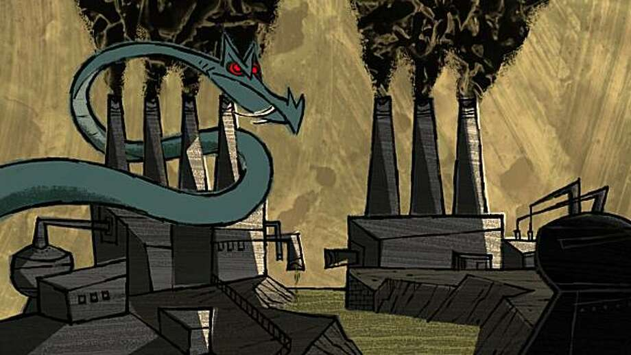"A still from Bay Area writer-director Geefwee Boedoe's animated short ""Let's Pollute,"" done in the style of midcentury instructional films. Photo: Geefwee Boedoe"