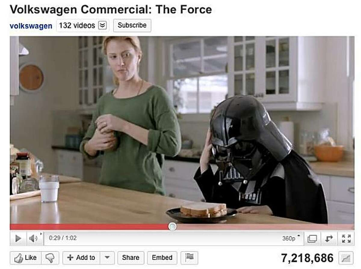 Volkswagen's 2011 Super Bowl ad for the Passat has garnered over 7 million views on youtube before the game has even been played.