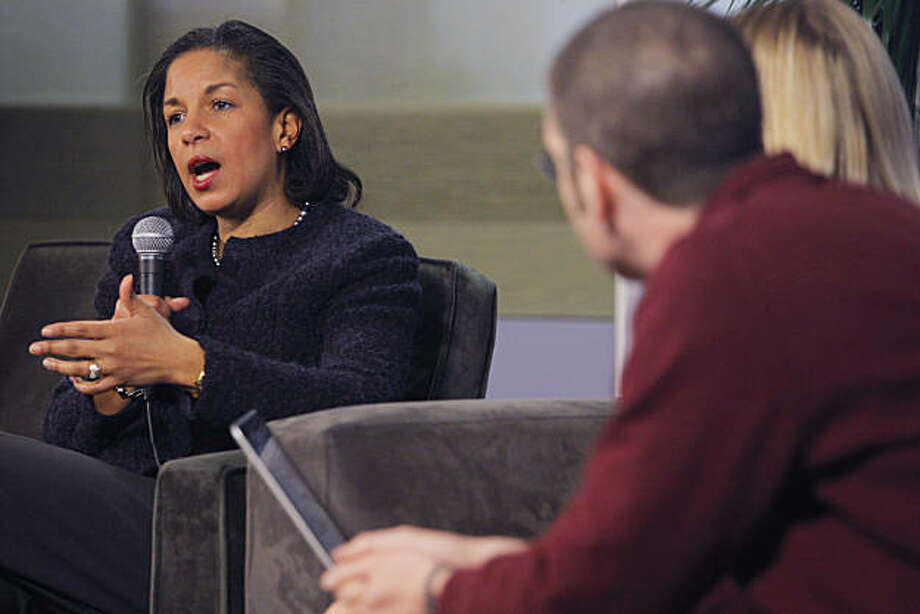 Susan Rice, Ambassador to United Nations for the United states speaks to Twitter employees about New Media at Twitter headquarters in San Francisco Calif. on Thursday, Feb. 10, 2011. Photo: Alex Washburn, The Chronicle