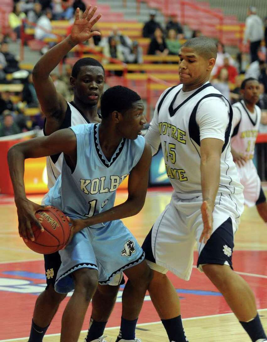 Highlights from boys baketball action between Notre Dame of Fairfield and Kolbe Cathedral at Sacred Heart University in Fairfield, Conn. on Tuesday January 10, 2012.