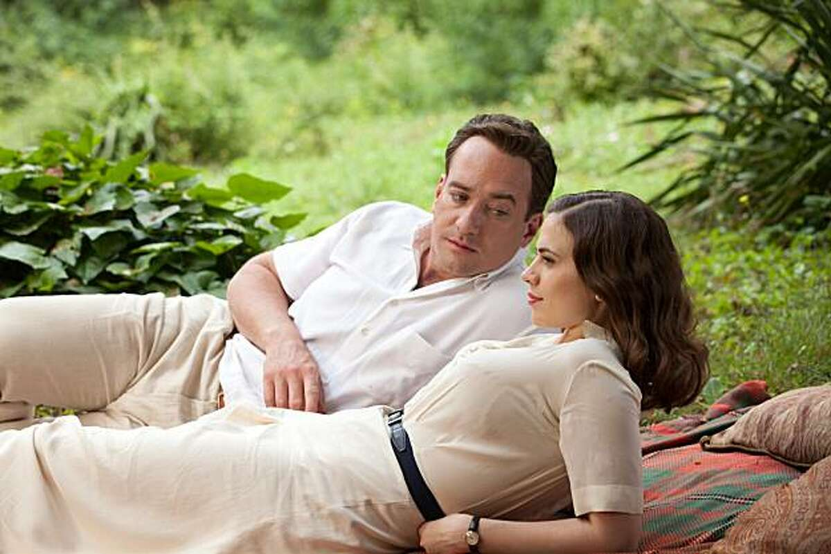 Celebrated writer William Boyd?•s best-selling novel Any Human Heart is adapted as a stunning MASTERPIECE miniseries about a man ?' at various times a writer, lover, prisoner of war and spy ?' making his often precarious way through the 20th century. Pictured: (left to right) Matthew MacFadyen as Logan Mountstuart and Hayley Atwell as Freya Deverell