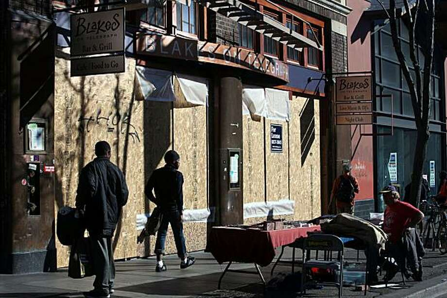 Blakes is  a 71 year old bar in Berkeley, Calif., which closed it's doors last Friday, and is seen boarded up today on Monday, February 7, 2011. Photo: Liz Hafalia, The Chronicle