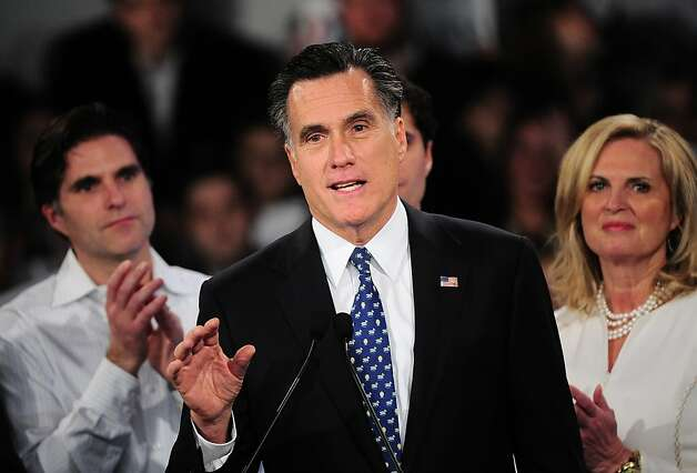 A young girl waves as Republican presidential hopeful Mitt Romney addresses a primary night victory rally in Manchester, New Hampshire, January 10, 2012. AFP PHOTO/Emmanuel Dunand (Photo credit should read EMMANUEL DUNAND/AFP/Getty Images) Photo: Emmanuel Dunand, AFP/Getty Images