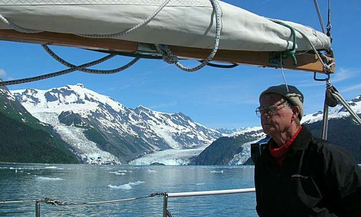 Robert VanBlaricom (Tiburon) shown here in Prince William Sound, Alaska, received the Cruising Club of America's prestigious Nye Trophy this week for a lifetime of ocean adventure.