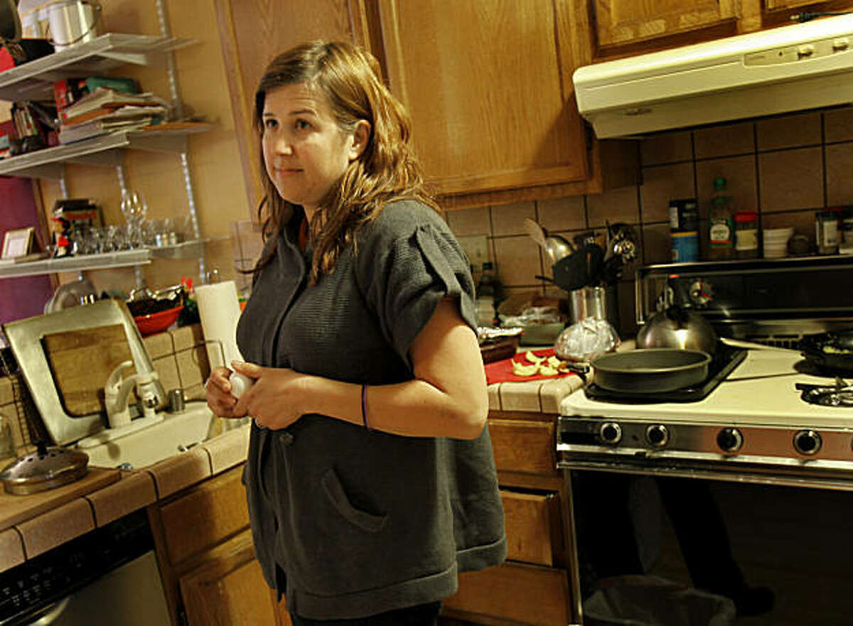 Jennifer Rosen stands in the kitchen of her home Wednesday February 2, 2011. Rosen, who lives in San Francisco, Calif., is upset that Safeway didn't notify her last summer that the eggs she bought had been recalled. She is thankful her family was not sickened by the Safeway eggs.
