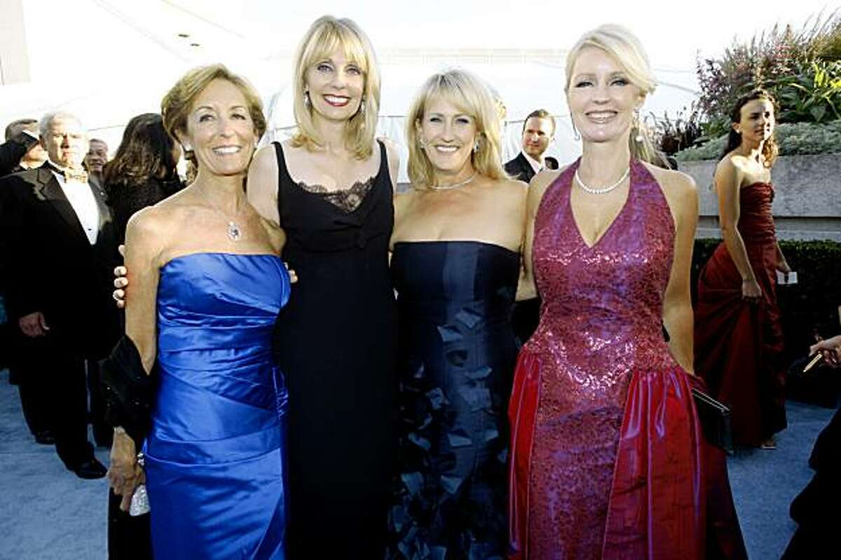 Left to right--Marcia Goldman, Jan Harris, Nanci Fredkin, and Leslie Wilson at the Symphony Gala at Davies Hall on Wednesday, September 8, 2009, in San Francisco, Calif.