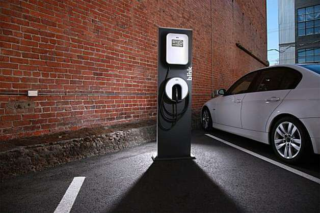Electric vehicle charging station built by ECOtality Inc. Photo: ECOtality Inc.