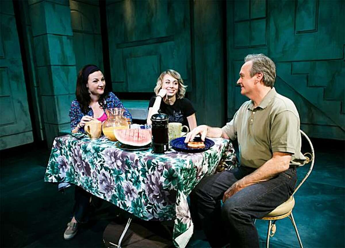 Harper (Susi Damilano) reunites with her daughter (Monique Hafen) and husband (Michael Keys Hall) in SF Playhouse's West Coast premiere of