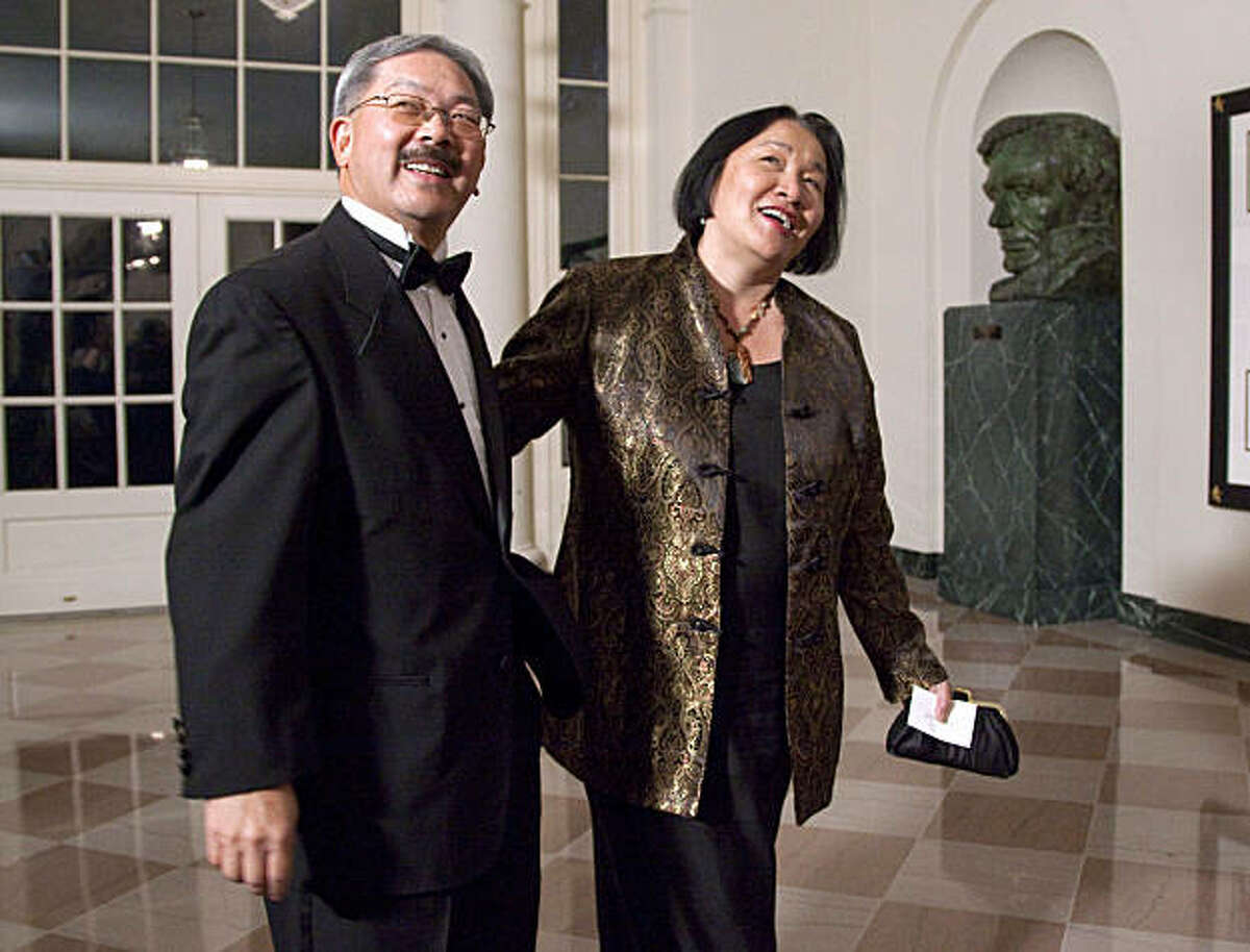 San Francisco Mayor Edwin Lee, left, and Oakland, Calif. Mayor Jean Quan, arrive at the White House in Washington, Wednesday, Jan. 19, 2011 for a state dinner in honor of Chinese President Hu Jintao.
