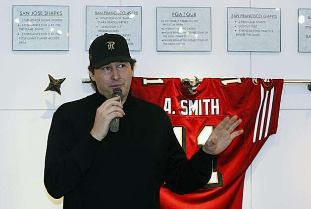 Eleven time World Series of Poker Champion Phil Hellmuth not only played in the tournament but was also the host-offering tips along with his insight on the game as he stands in front of some of the prizes. Dozens of Wilkes Bashford's customers and friends attended a charity poker tournament at the downtown San Francisco menÕs clothing store Wednesday Jan 12, 2011. Seventy-two contestants took part at nine tables with eight players to a table. The goal was to raise twenty-five thousand dollars for the Omega Boys Club.  Celebrities included Ronny Lott, Willie Brown. Photo: Lance Iversen, The Chronicle