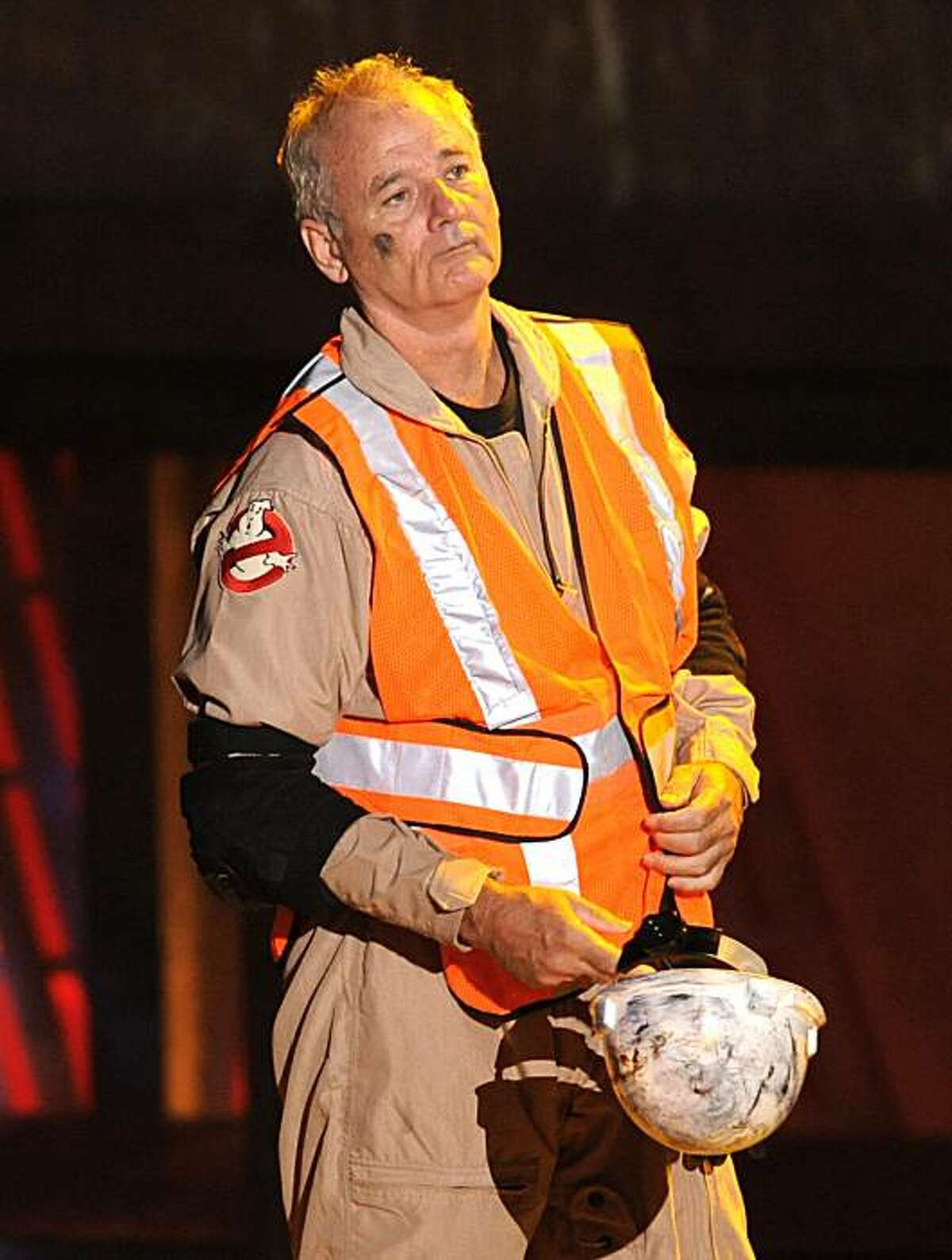 Actor Bill Murray accepts the best horror movie award for