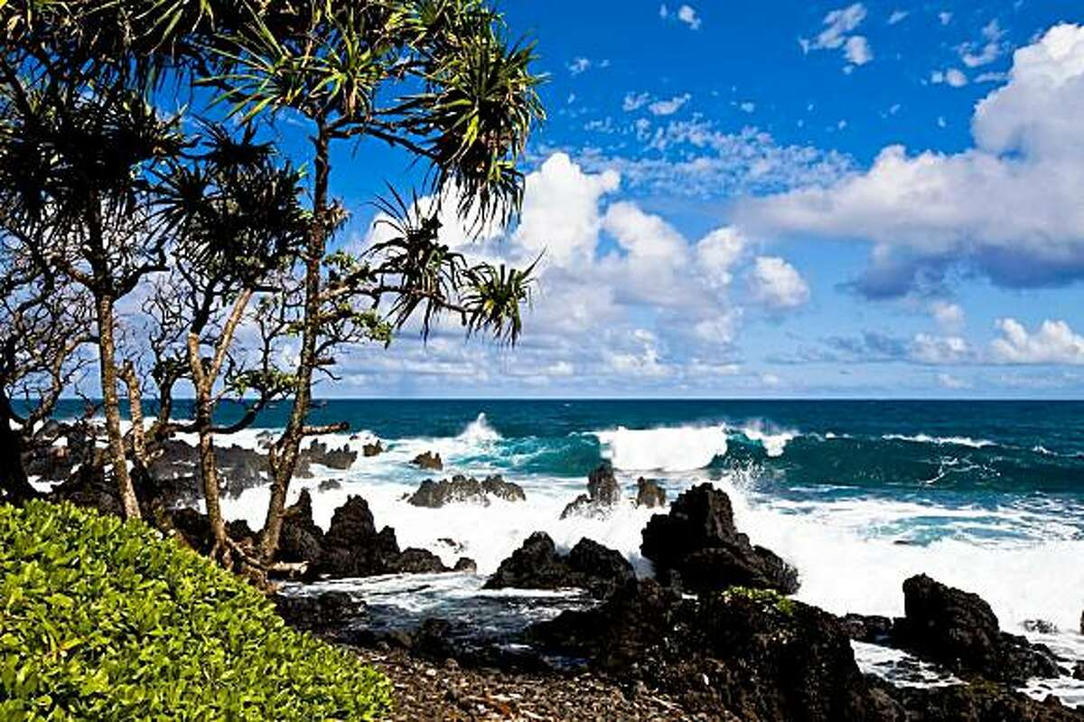 The rugged coast near Hana, Maui, is the scene of a dramatic flash flood in Kathleen Tyau's