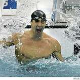 Michael Phelps takes the Gold medal in the Men's 100 Butterfly final on Saturday Aug. 16, 2008 at the Olympic Games in Beijing, China.