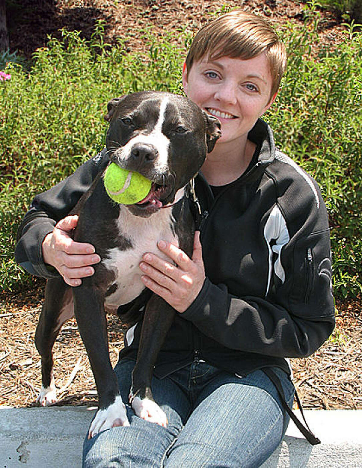 Uba is another dog rescued from Michael Vick's dogfighting ring. He was adopted by Letti deLittle and Jamel Freeman of San Francisco.