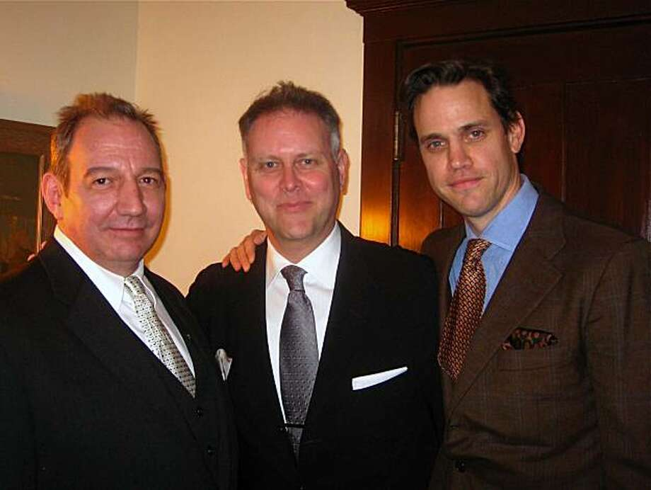 Bill Arney (left) with Noir Film Foundation founder Eddie Muller and author Robert Mailer Anderson. Jan. 2010. By Catherine Bigelow. Photo: Catherine Bigelow, Special To The Chronicle