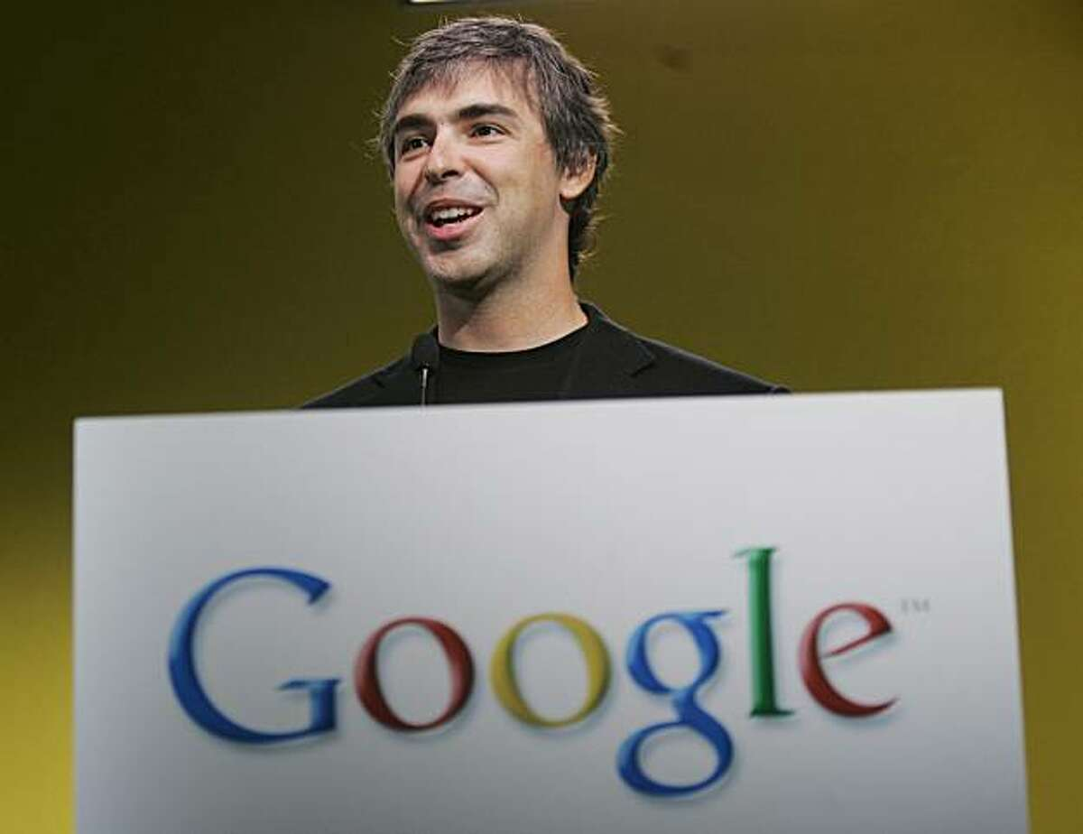 Google billionaire co-founder Larry Page criticized a potential Microsoft takeover of Yahoo, saying it would concentrate too much power in the online communications market, stifling innovation and curbing competition. 2007 photo
