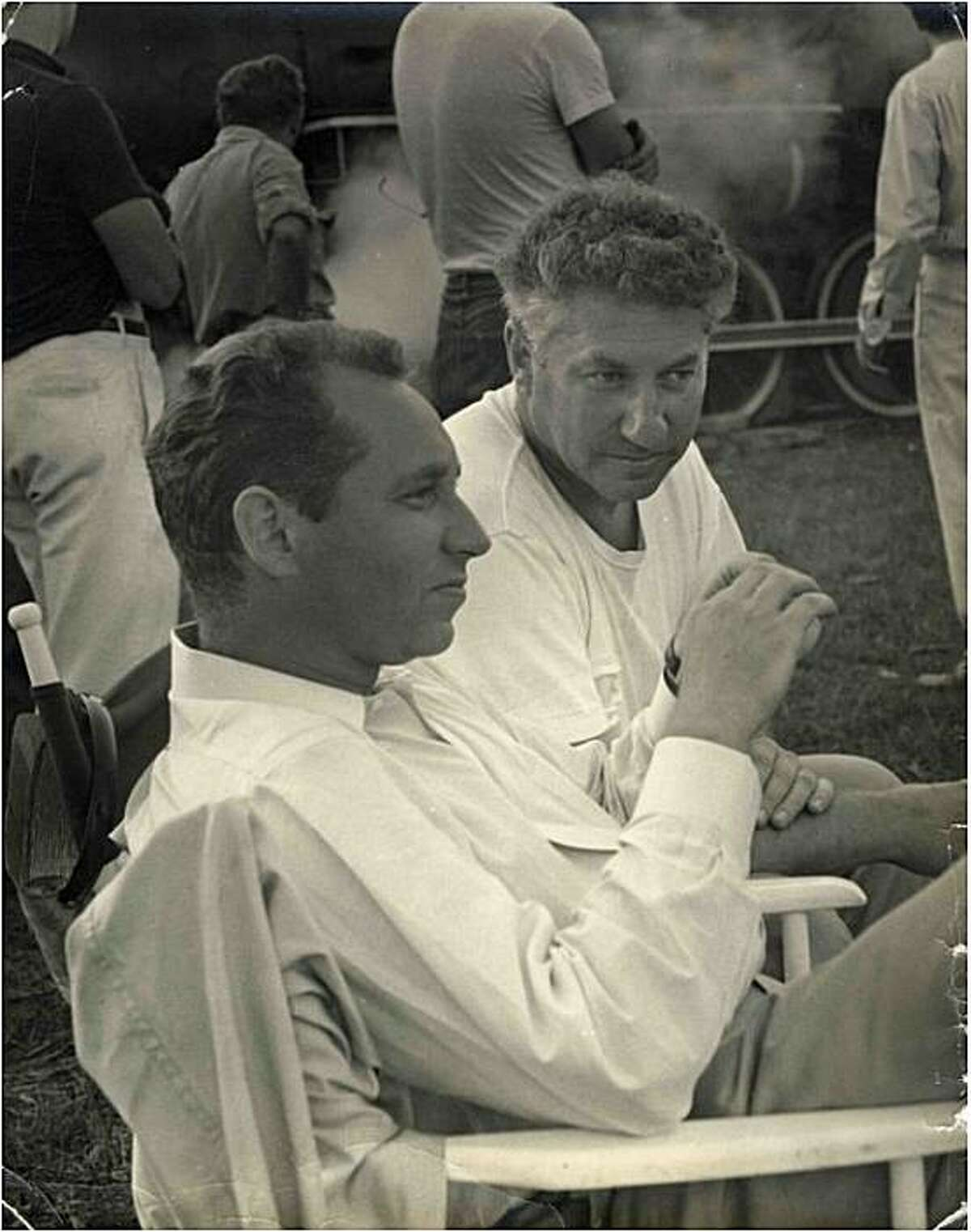 The Schulberg brothers ?' Stuart at left, Budd at right ?' worked in the same OSS film unit throughout the war and during preparation for the Nuremberg trial.