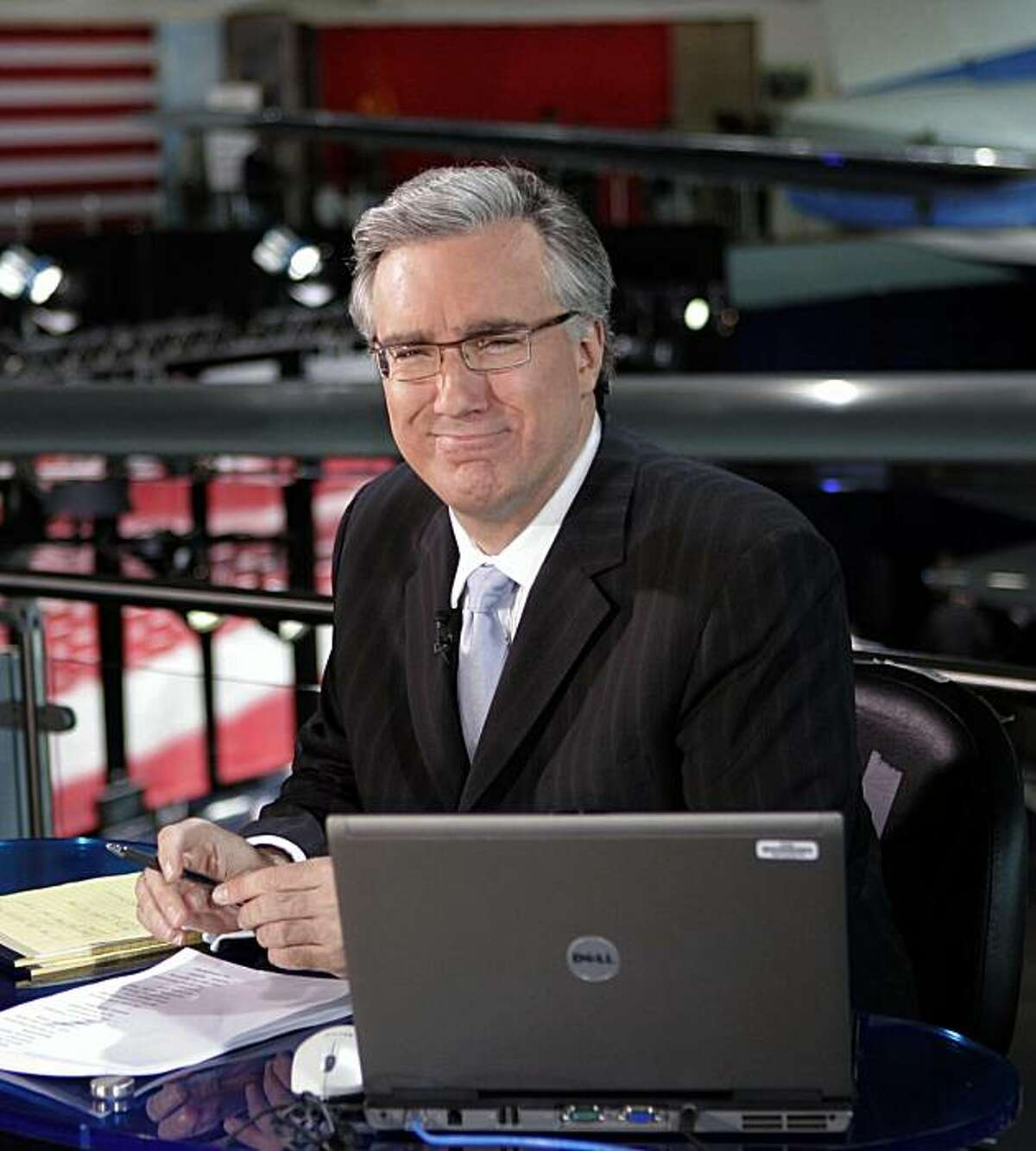 """FILE - In this May 3, 2007 file photo, Keith Olbermann of MSNBC poses at the Ronald Reagan Library in Simi Valley, Calif. Keith Olbermann is leaving MSNBC and has announced that Friday's """"Countdown"""" show will be his last. MSNBC issued a statement Friday,Jan. 21, 2011, that it had ended its contract with the controversial host, with no further explanation."""