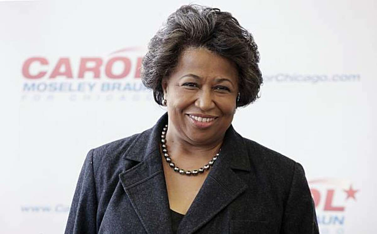 In this photo taken Jan. 3, 2011, Chicago mayoral candidate Carol Moseley Braun speaks a news conference in Chicago. Not long after Chicago's black leaders settled on Braun as their best hope to elect an African-American mayor, she made one thing clear: She intended to seek support from a broad range of voters _ not just black ones.