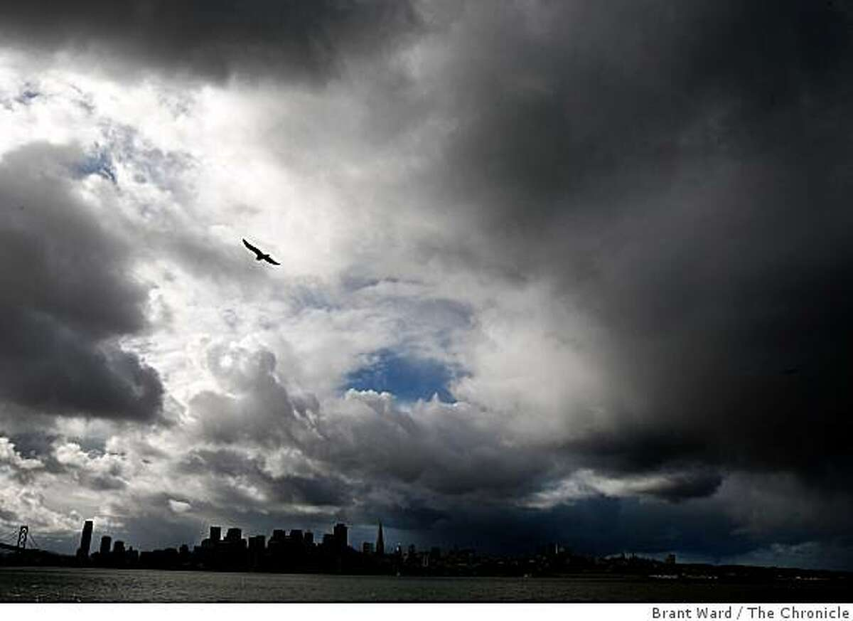 Clouds and light showers darkened the sky on Monday. Forecasters called for much of the same throughout the week.