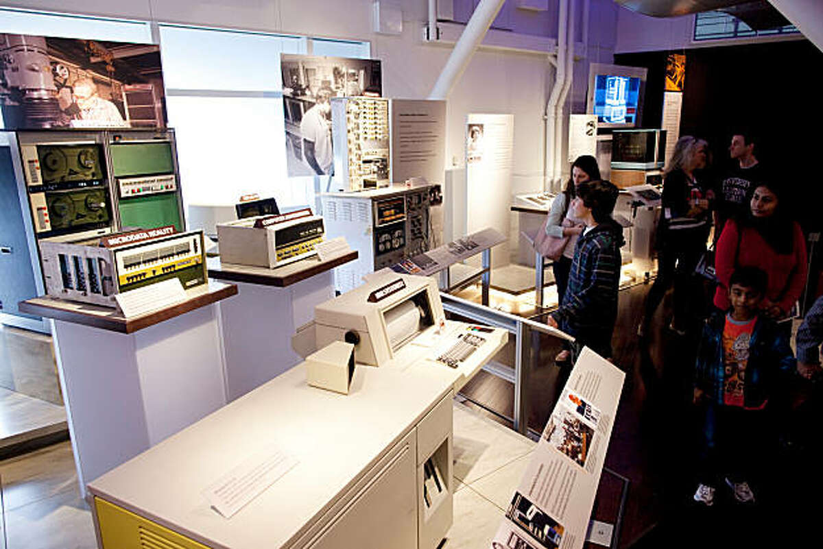 People look at some of the older computers on display at the Computer History Museum on January 15, 2011 in Mountain View, Calif. Photograph by David Paul Morris/Special to the Chronicle