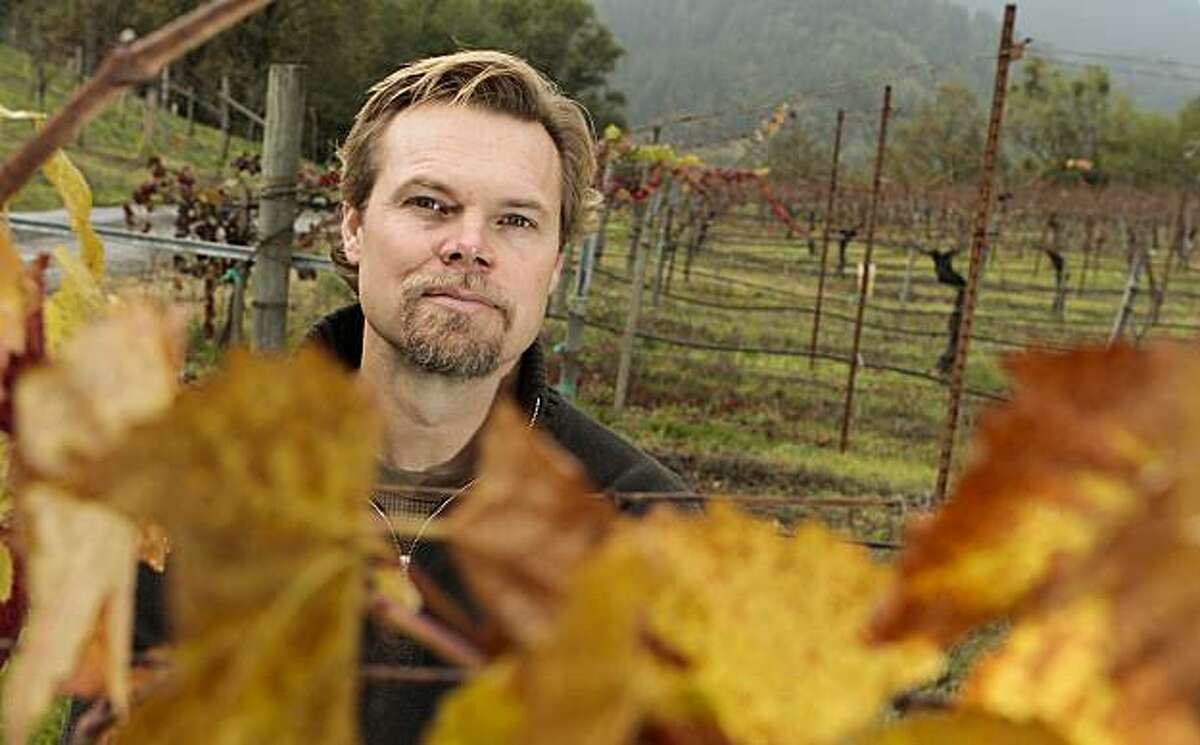 Winemaker Alex Davis of Porter Creek Winery at the winery in Healdsburg , Calif., is seen on Sunday, Dec. 5, 2010.
