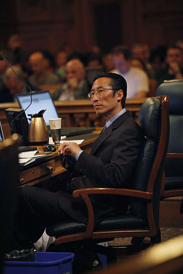 Supervisor Eric Mar listens to a speaker during the San Francisco Board of Supervisors meeting at City Hall in San Francisco, Calif. on Tuesday May 4, 2010. Photo: Lea Suzuki, The Chronicle