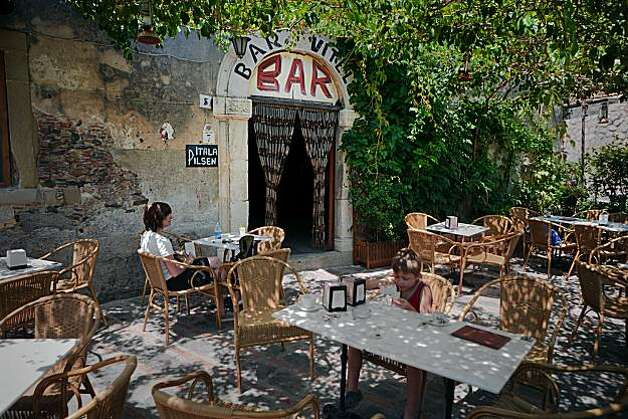 "Bar Vitello, where Michael Corleone speaks to Apolonia's father in ""The Godfather"" movie. Photo: Chris Hardy, Special To The Chronicle"