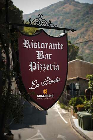 Sicily: La Pineta Ristorante in Savoca, owned by Antonella Savoca, who played the flower girl in Michael and Apolonia's wedding inThe Godfather. Photo: Chris Hardy, Special To The Chronicle