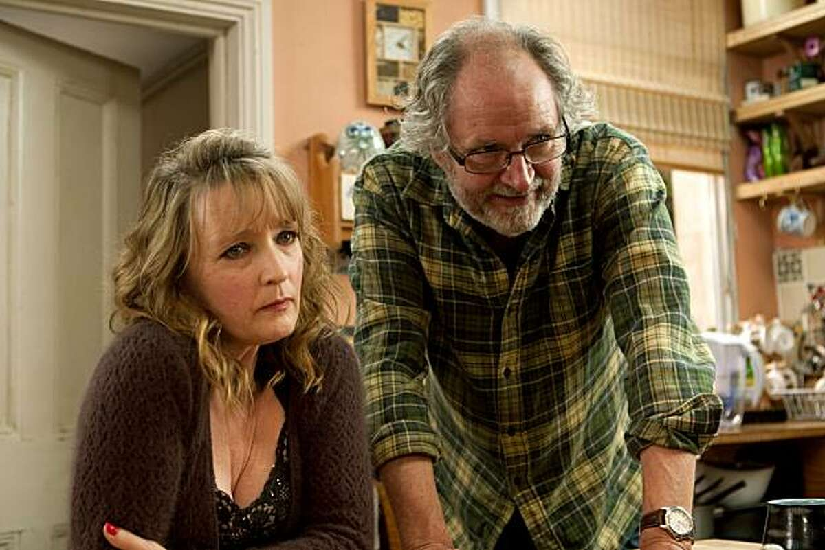 """In this undated film publicity image released by Sony Pictures Classics, Lesley Manville, left, and Jim Broadbent are shown in a scene from, """"Another Year."""""""