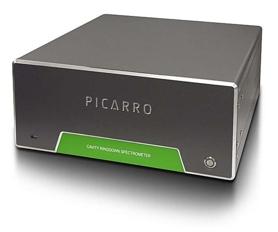 "Picarro's ""cavity ring-down spectroscopy"" instruments are able to more accurately analyze and measure greenhouse gases such as carbon dioxide and methane, ""down to parts per billion levels of precision,"" said Woelk. Such precision is becoming increasingly important as more attention is being paid to climate change, by governments and businesses. Photo: Picarro"