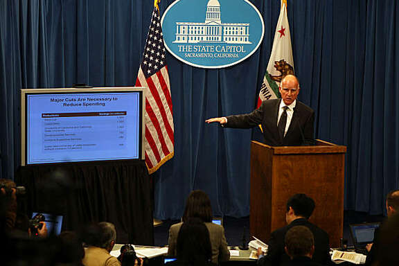 Governor Jerry Brown introduces his January budget proposal on Monday morning, January 10, 2011, at the state capitol in Sacramento, Calif.Governor Jerry Brown introduces his January budget proposal on Monday morning, January 10, 2011, at the state capitol in Sacramento, Calif.