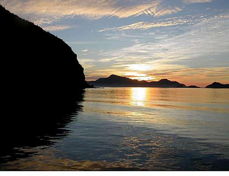 Loreto sunrise on the Sea of Cortes.