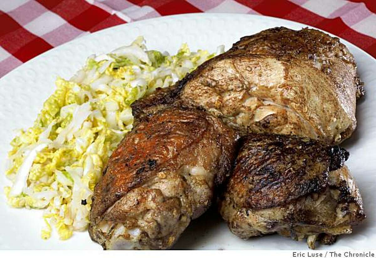Five spice grilled chicken with Napa cabbage slaw photographed in San Francisco on Thursday, May 7, 2009.