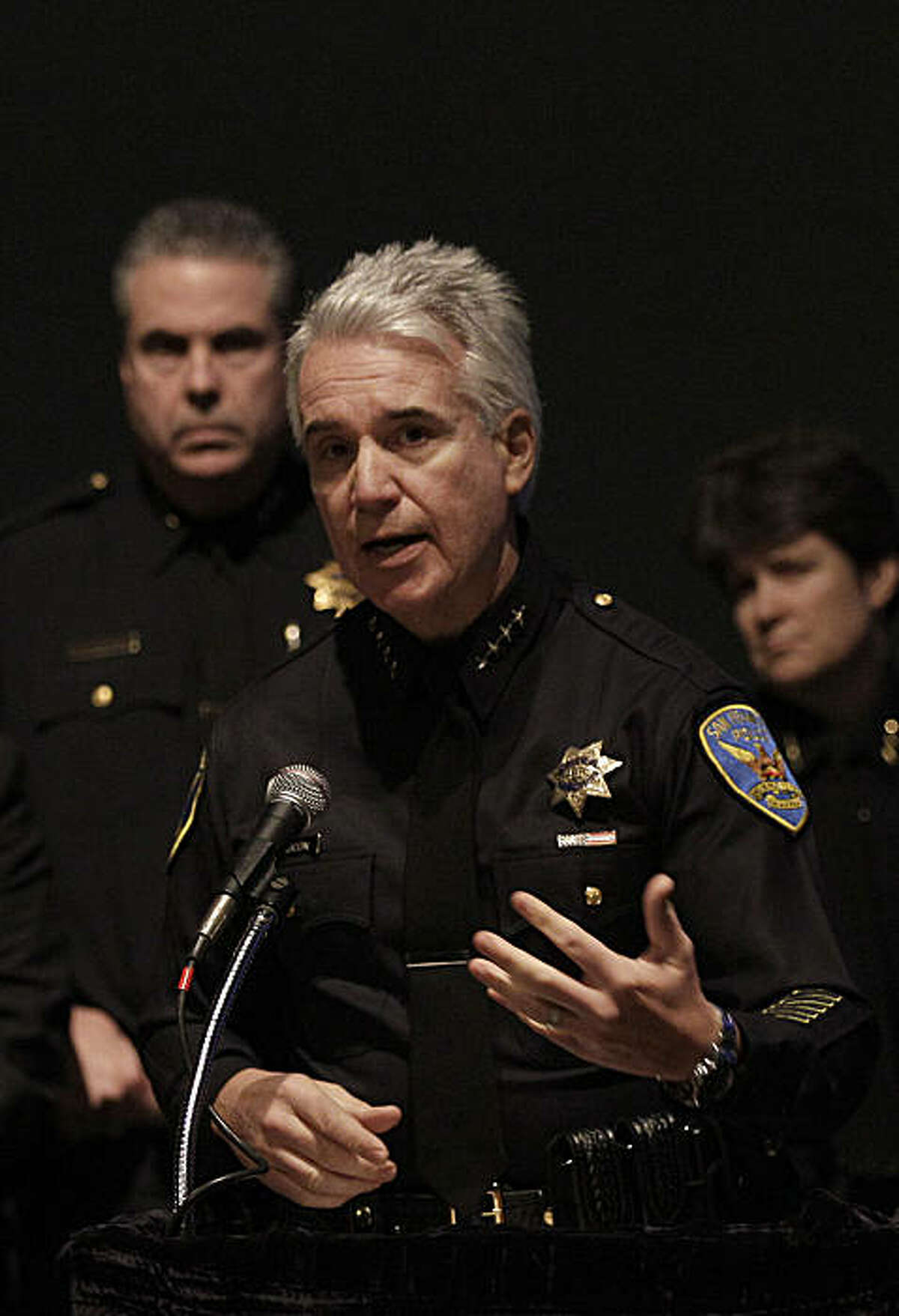 San Francisco Police Chief George Gascón answers questions at a news conference in San Francisco, Wednesday, Jan. 5, 2011.