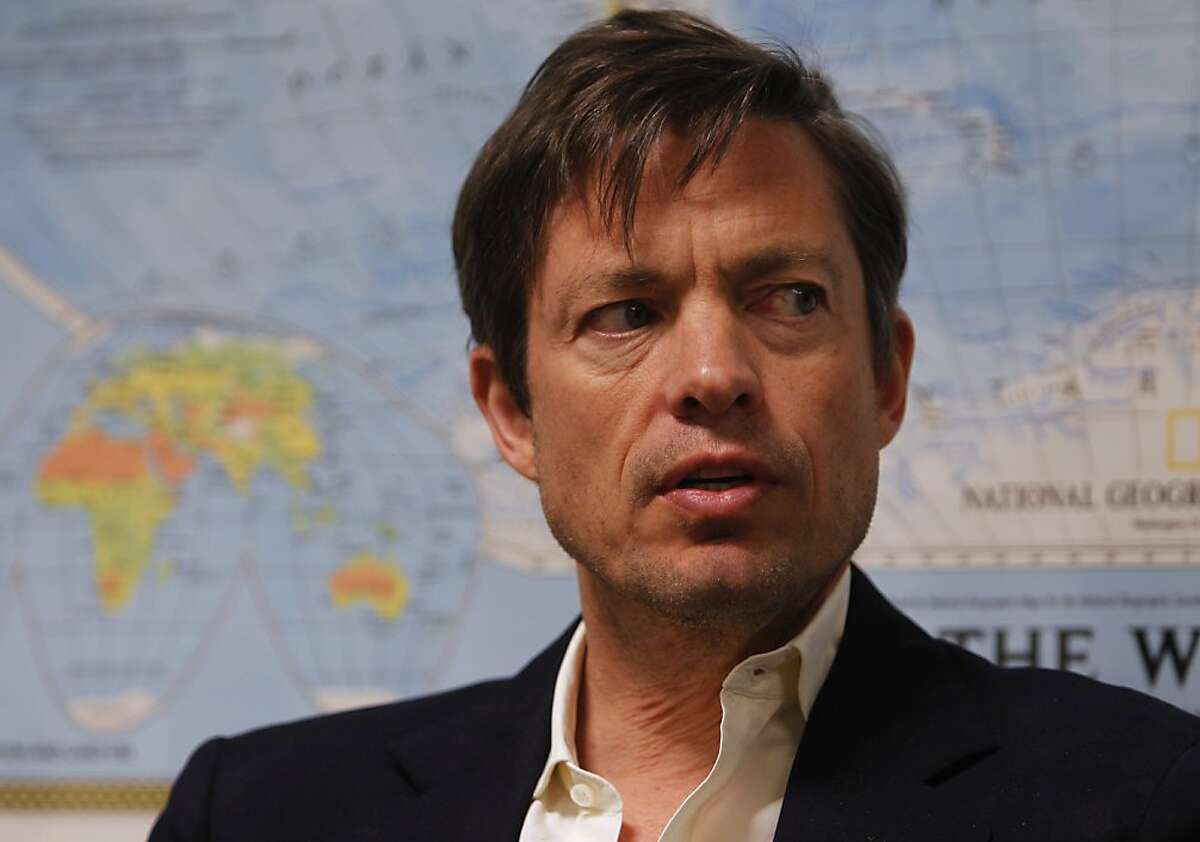 Billionaire Nicolas Berggruen discusses his plans to bankroll a number of government reform initiatives in San Francisco, Calif., on Thursday, Jan. 6, 2011.