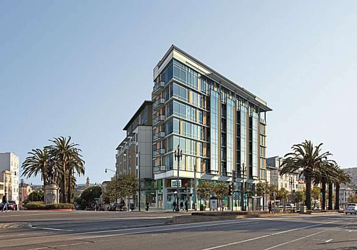 Artist conception of new building in place of S&C Ford, San Francisco.