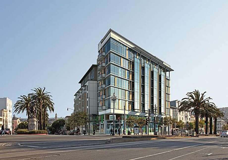 Artist conception of new building in place of  S&C Ford, San Francisco. Photo: Prado Group