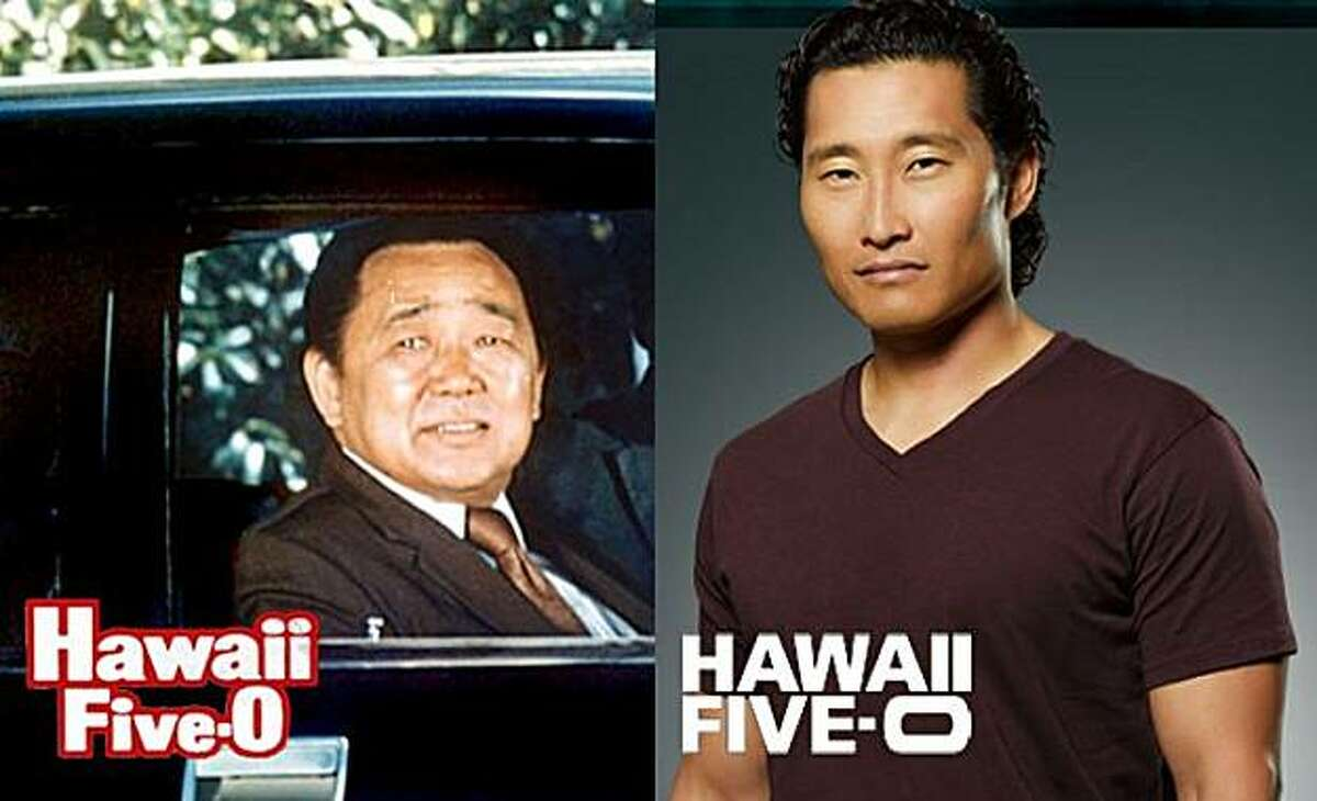Kam Fong Chun and Daniel Dae Kim -- the once and future Chin Ho Kelly, side by side.