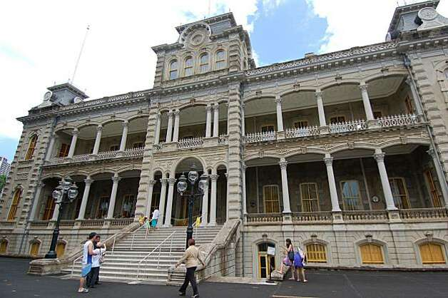 "In the classic ""Hawaii Five-O,""  'Iolani Palace was apparently the setting of the elite police team's offices. The historic building is open for tours with paid admission. Photo: Jeanne Cooper, Special To SFGate"