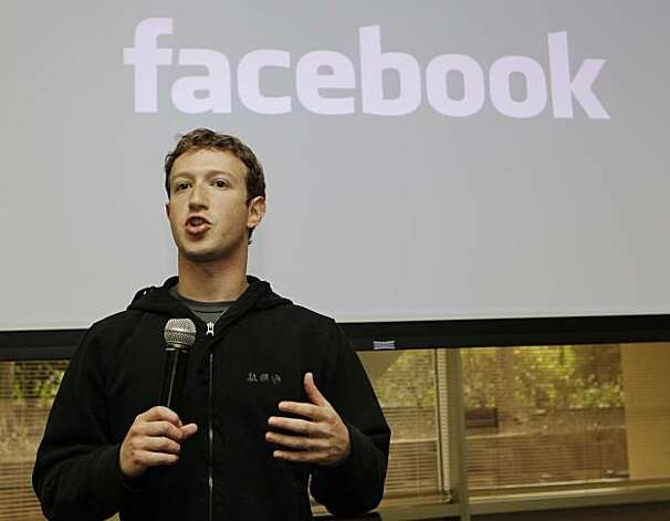 In this May, 26, 2010 file photo, Facebook CEO Mark Zuckerberg talks about the social network site's new privacy settings in Palo Alto, Calif.  Facebook has raised $500 million from Goldman Sachs and a Russian investment firm in a deal that valuesthe company at $50 billion, The New York Times reported. Goldman invested $450 million and Digital Sky Technologies invested $50 million, the newspaper reported Sunday in its online edition, citing people involved in the transaction that it did not name.Goldman has the right to sell part of its stake, up to $75 million, to the Russian firm. Photo: Marcio Jose Sanchez, AP