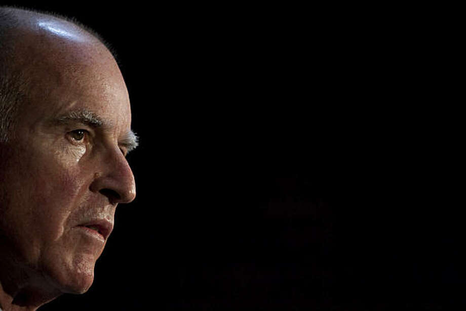 OAKLAND, CA - NOVEMBER 3:   California Governor-elect Jerry Brown speaks during a news conference at his campaign headquarters on November 3, 2010 in Oakland, California.  Brown secured his second Governorship by defeating Republican challenger Meg Whitman with nearly 54% of the votes despite the record setting $160 million spent on her campaign.  (Photo by David Paul Morris/Getty Images) *** Local Caption *** Jerry Brown Photo: David Paul Morris, Getty Images