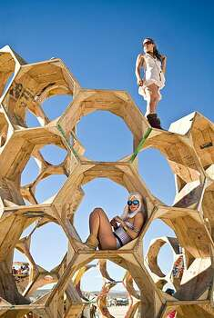 "The ""Honey Trap"" art installation is shown during Burning Man 2010.  Photo: Vince Alonzo, AP"