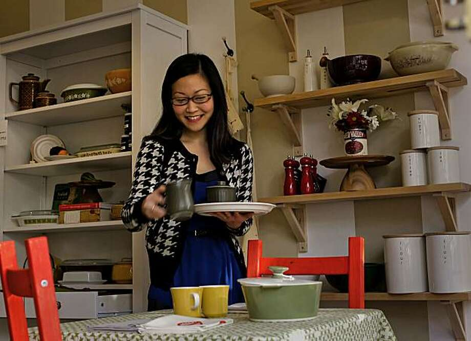 Donna Suh Wageman at her kitchen wares store, Pot + Pantry in  San Francisco, Ca., on Thursday Dec. 23, 2010. Photo: Michael Macor, The Chronicle